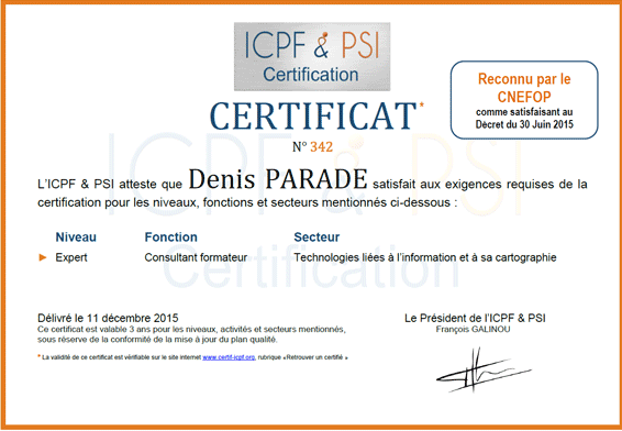 Certification consultant formateur expert